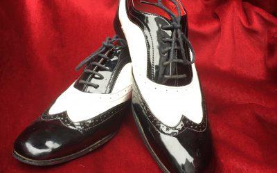 black & White gangster shoe