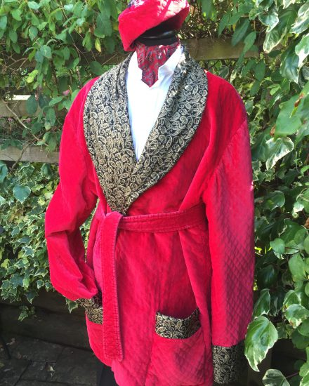 Masquerade Mens Red Smoking Jacket Masquerade