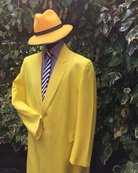 Masquerade Mask Yellow Zoot Suit Masquerade