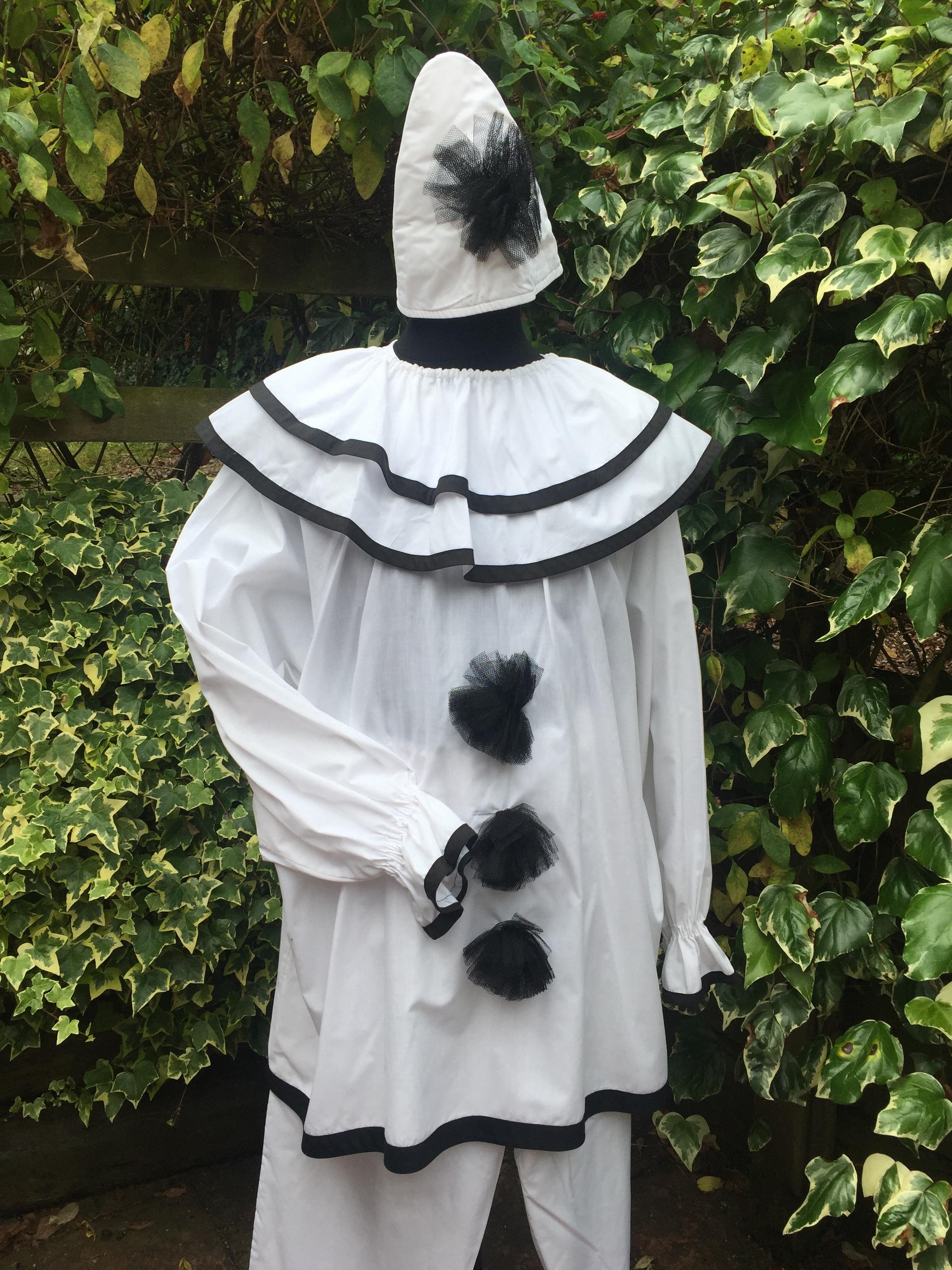 Masquerade Gents Pierrot Clown Costume Masquerade
