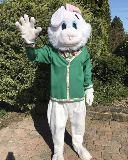 Easter Bunny Mascot Costume For Hire & Masquerade Easter Bunny Mascot Costume For Hire - Masquerade