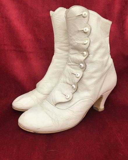 Masquerade Ladies Cream Victorian Boots Masquerade