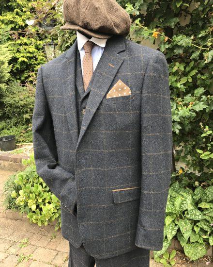 Masquerade Blue Amp Brown Tweed Peaky Blinders Suit Masquerade