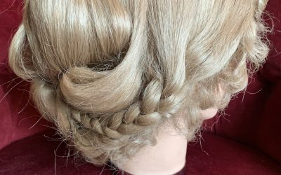 Blonde skin top Edwardian wig