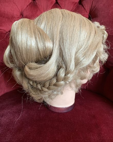 Blonde skin top Edwardian wig