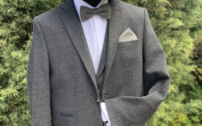 1950's grey tweed day suit